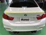 BMWF82M4 VRS カーボンリヤスポイラー取付❗️デモカー BMWF82M4 6MT