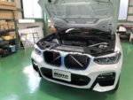 BMWG01X3Xdrive 20dMsport Mperformancepartsブラックキドニーグリル取付❗️デモカー BMWG01X3Xdrive20dMsport