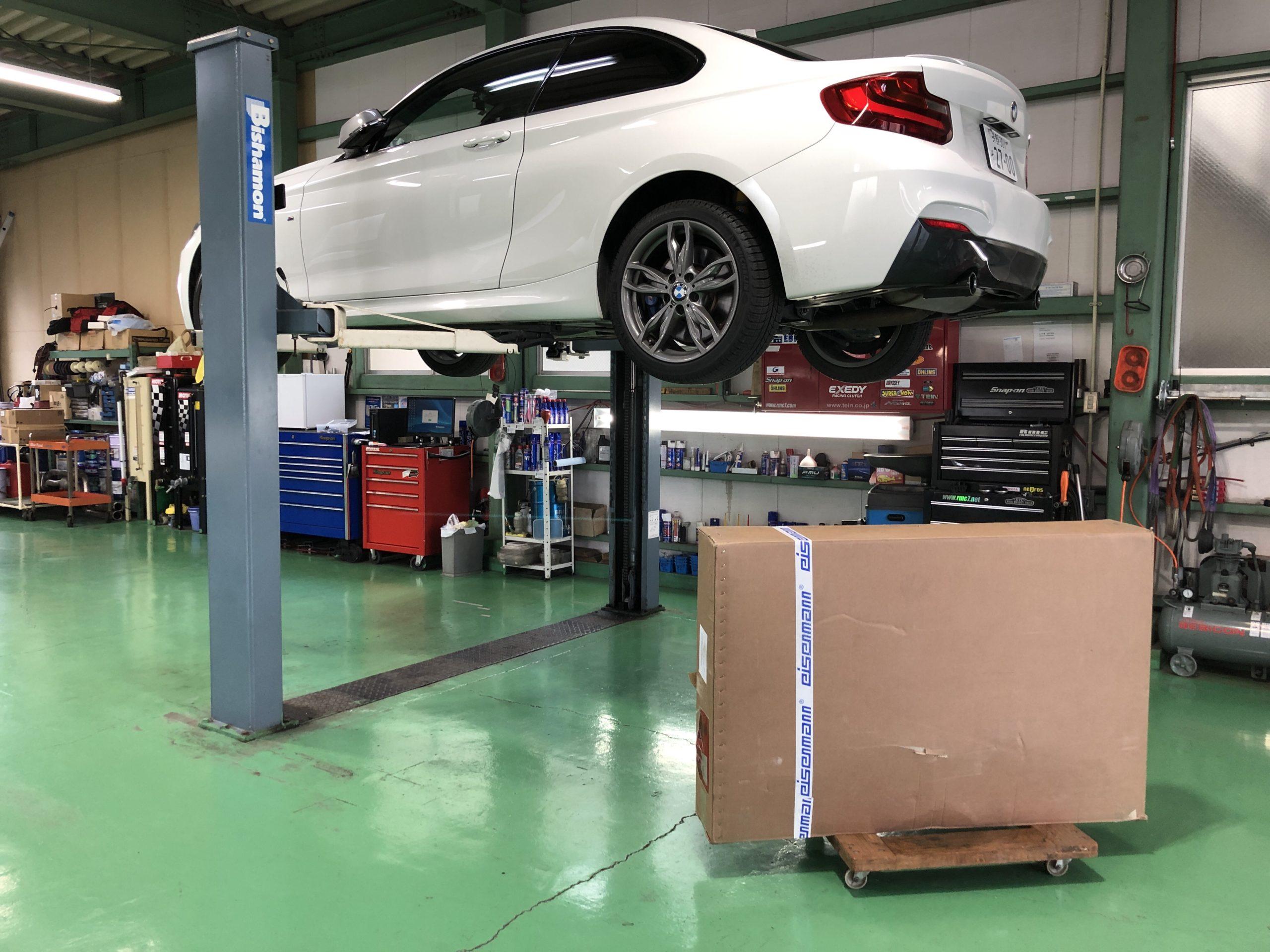 BMWF22M235iクーペ eisenmannマフラー取付❗️長野県Y様 BMWF22M 235iクーペ