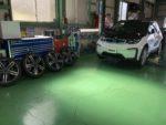 BMWI01i3SUITEREXスタッドレス→夏タイヤ履き替え❗️デモカーBMWI01i3SUITE REX