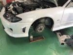 S15SILVIA車検整備ブレーキフルード交換!DIXCELDURレーシングブレーキフルード交換