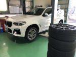 BMWG01X3Xdrive20dM sportスタッドレス→夏タイヤ履き替え❗️羽村市Rmc G01X3Xdrive20dMsport