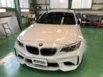 BMWF87M2クーペG'ZOXハイパービューウィンドウ撥水コーティング施工❗️青梅市M様 BMWF87M2クーペ