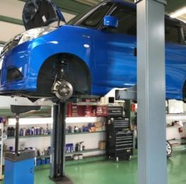 MA36SSOLIO車検整備作業、エンジンオイル交換、ブレーキフルード交換他車検整備実施しました。羽村市E様MA36SSOLIO