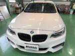 BMWF22M235iクーペフロントガラス専用撥水コーティングG'ZOXハイパービュー施工❗️長野県Y様BMWF22M235iクーペ