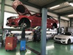 BMWF32420クーペ車検整備作業❗️エンジンオイル交換オイルエレメント交換、ブレーキフルード交換他車検整備を行いました。青梅市E様BMWF32420クーペ