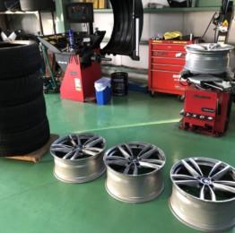 デモカーBMW G29 Z4 M40iBS BLIZZAK VRX255/35R19 275/35R19スタッドレスタイヤ&純正7er用ホイール組込バランス作業❕