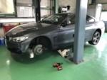 BMWF32428iクーペ タイヤ交換作業225/40R19フロント2本新品交換❕青梅市Y様BMWF32428iクーペ