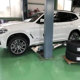 BMWG01X3Xdrive20dMsportランフラットタイヤ交換作業!MICHELIN PilotSport4ZP275/40RF20ランフラットタイヤ